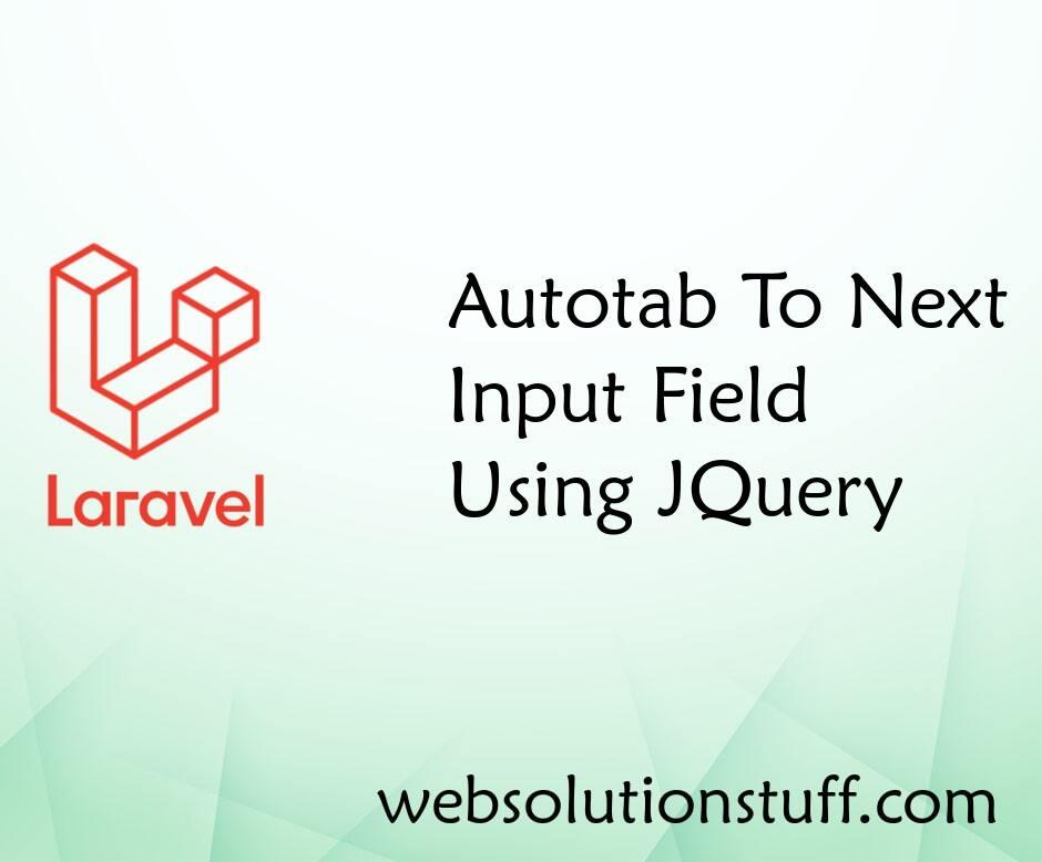 Autotab To Next Input Field JQuery