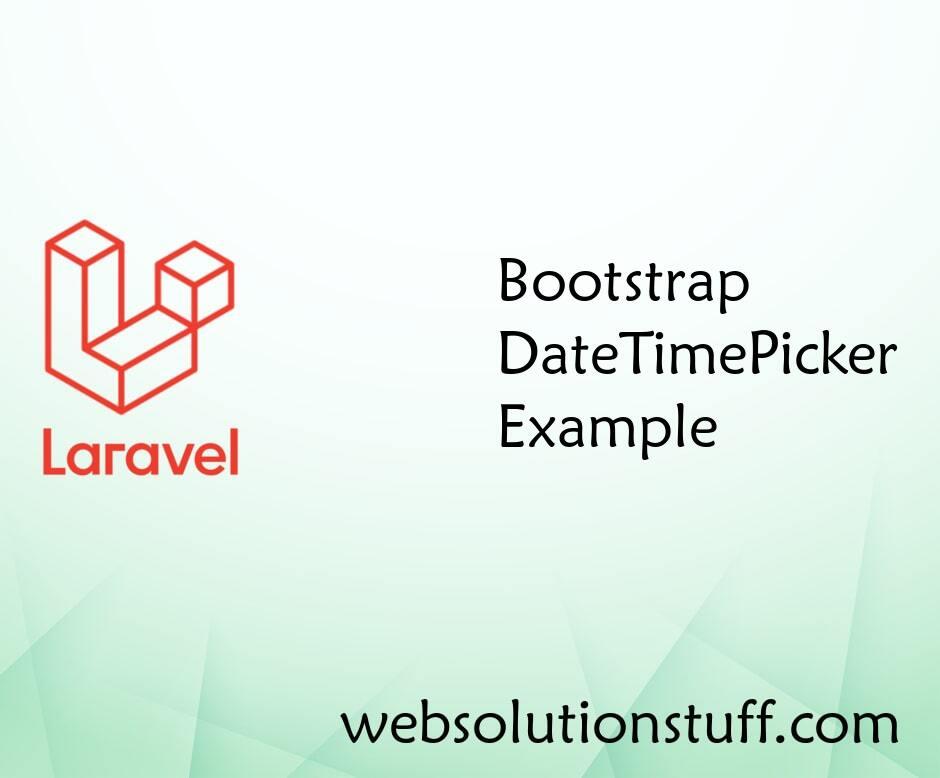 Bootstrap DateTimePicker Example