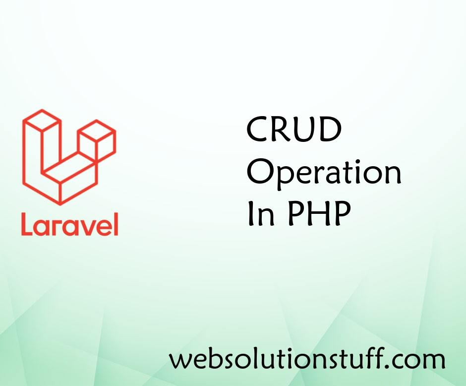 CRUD Operation In PHP
