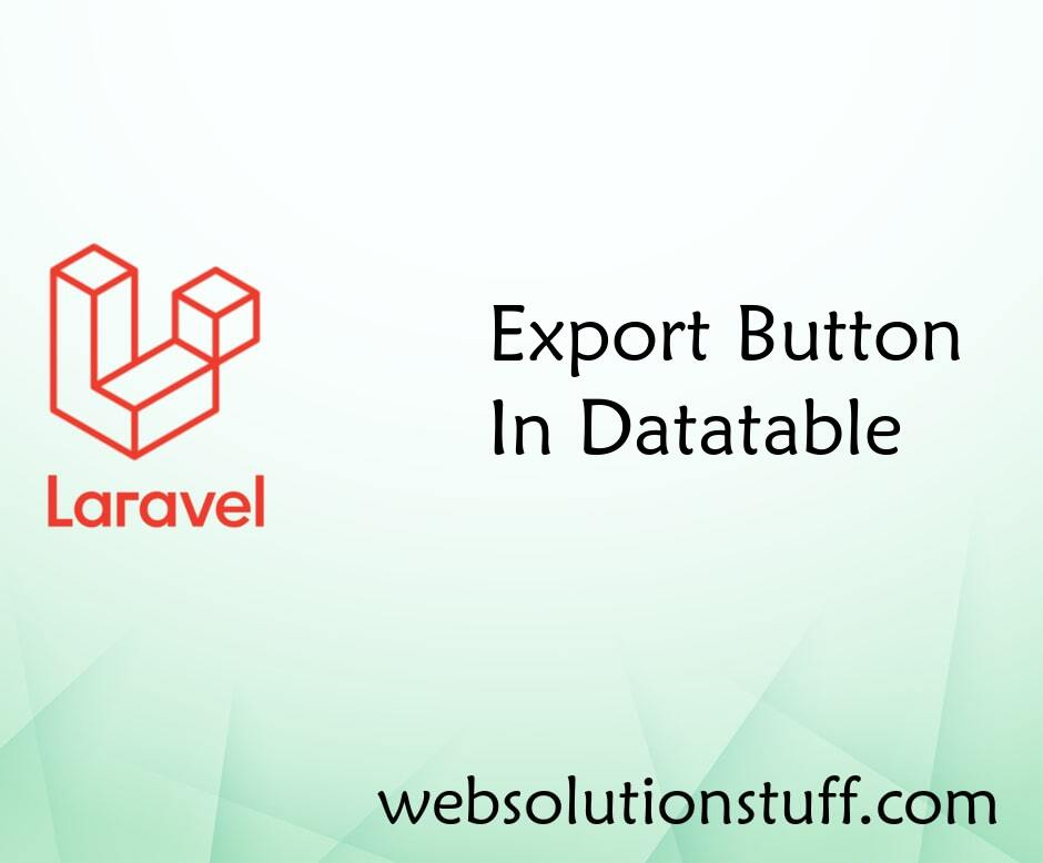 Export Buttons In Datatable