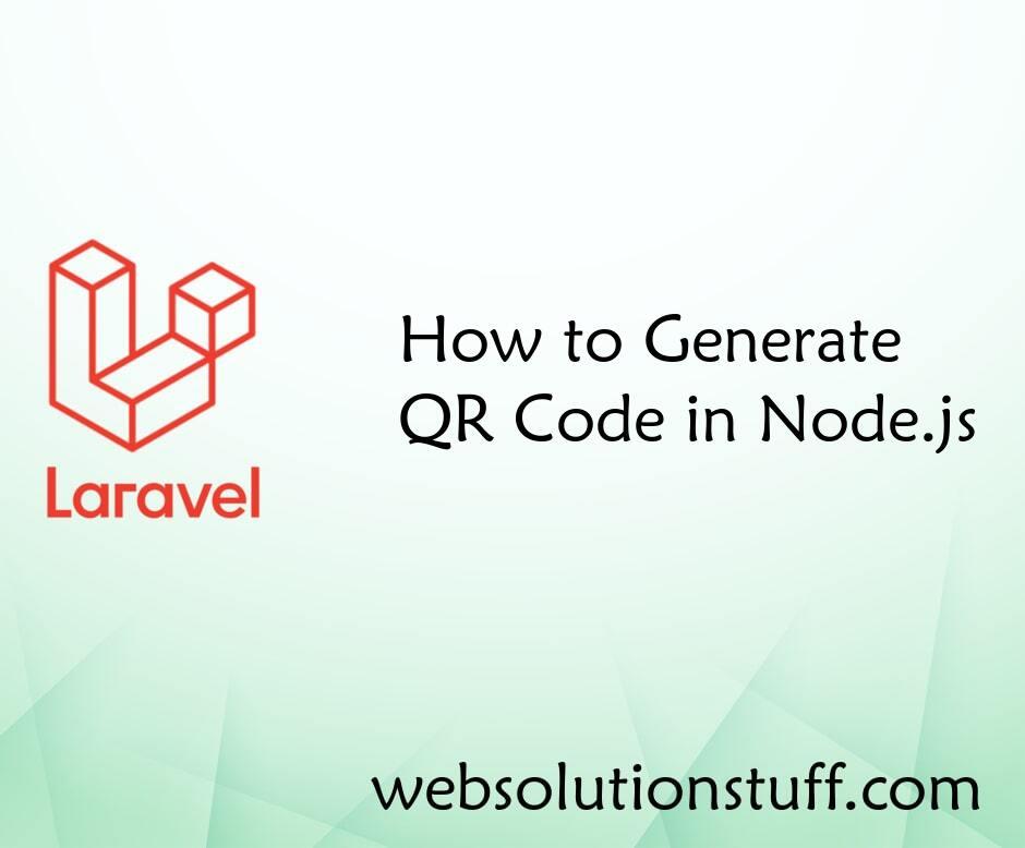 How to Generate QR Code in Node.js