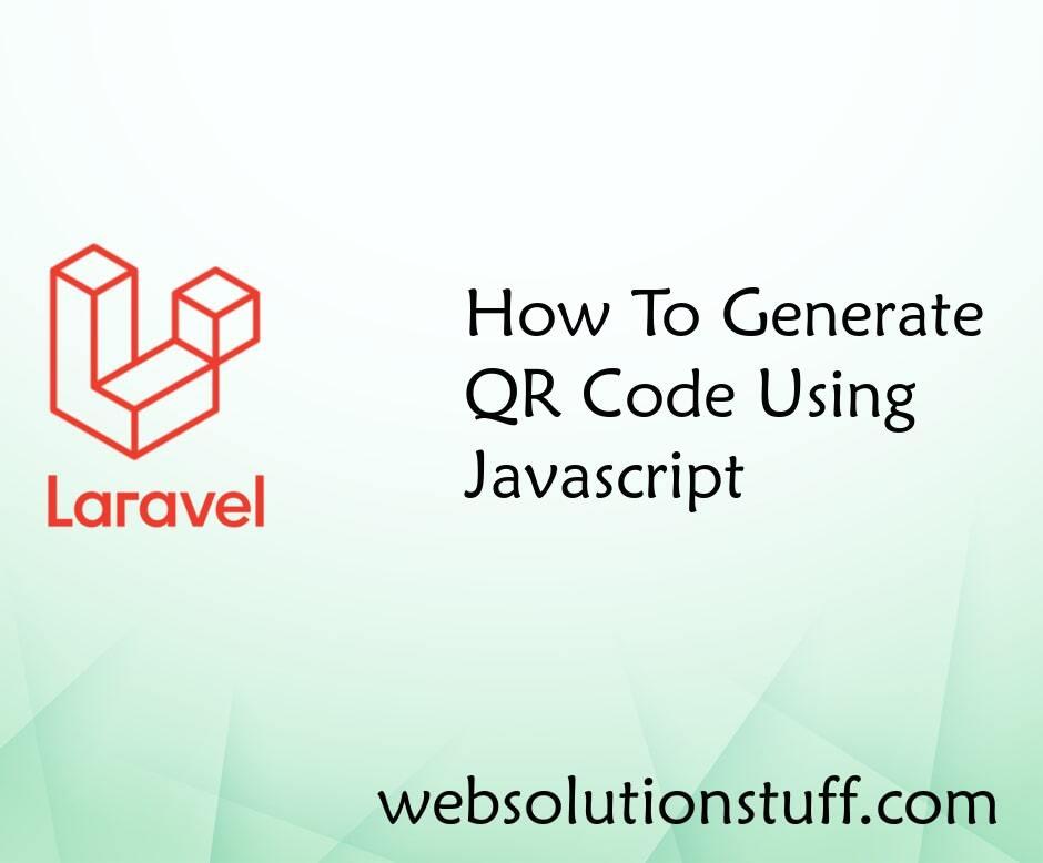 How To Generate QR Code Using Javascript