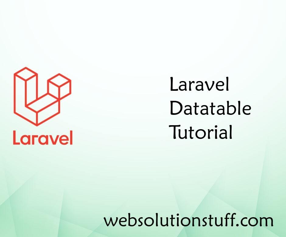 Laravel Datatables Example