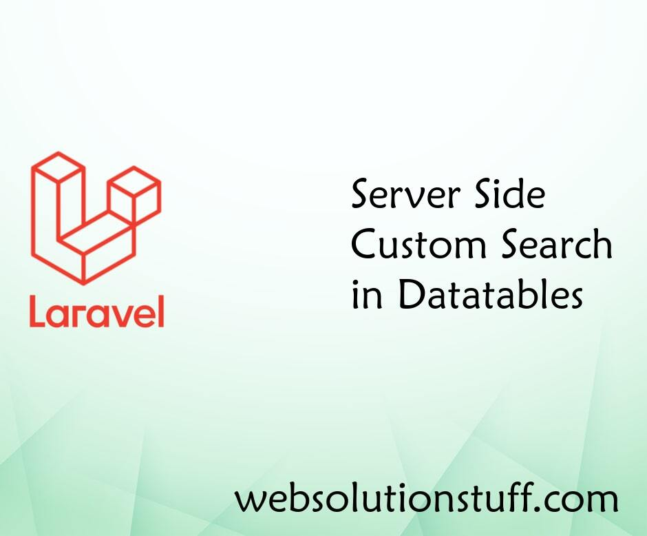 Server Side Custom Search in Datatables
